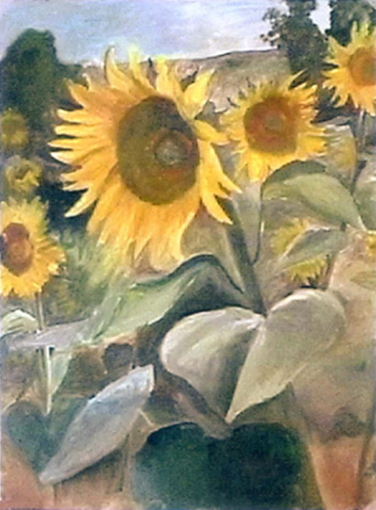 Hugh Moore sunflowers in oil