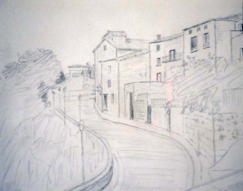 Laurie Nutton second drawing with laps and houses