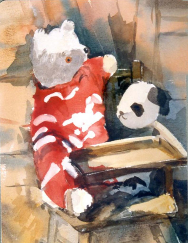 Margaret Parker teddy bear and panda
