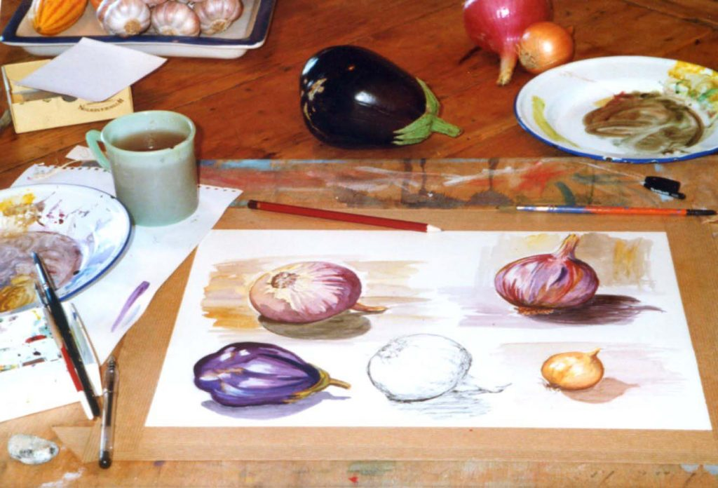 sallys-painting-with-fruits-on-table