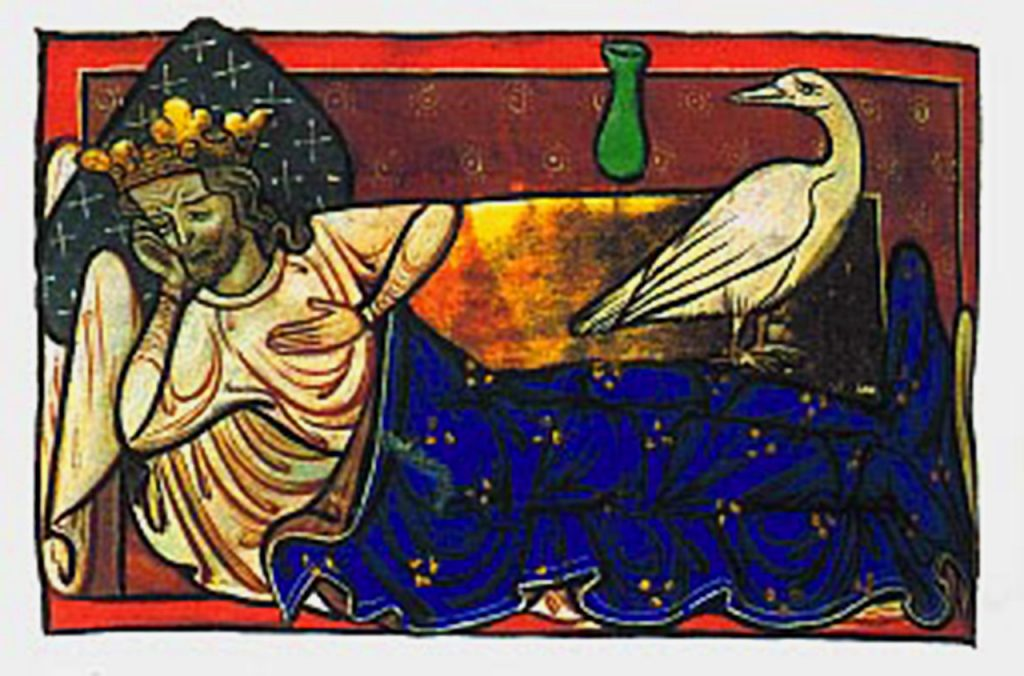 Caladrius bird with king