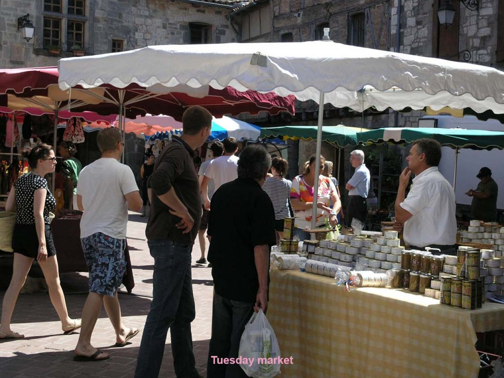 Tuesday market with Christian